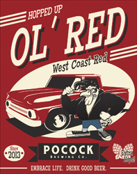 Logo of Pocock Brewing Company Hopped Up Ol' Red