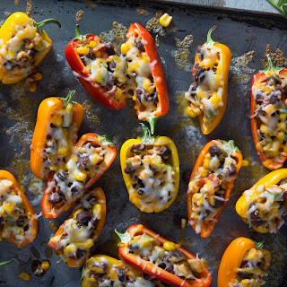 Sweet Mini Bell Pepper Poppers.