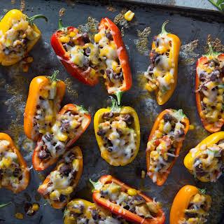 Sweet Mini Bell Pepper Poppers.