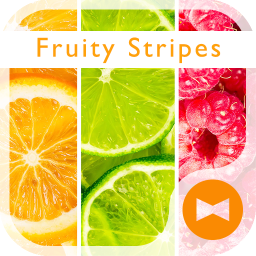 Fruity Stripes +HOME Theme Icon
