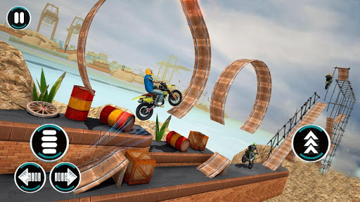 Bike Stunts Game u2013 Free Games u2013 Bike Games 2021 3D apktram screenshots 2