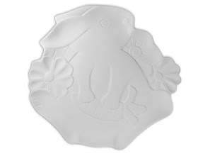 "Photo: Sweet Bunny Dish (17in stock) $18 9 ¼"" L x 8 ¾"" W x 1"" H"
