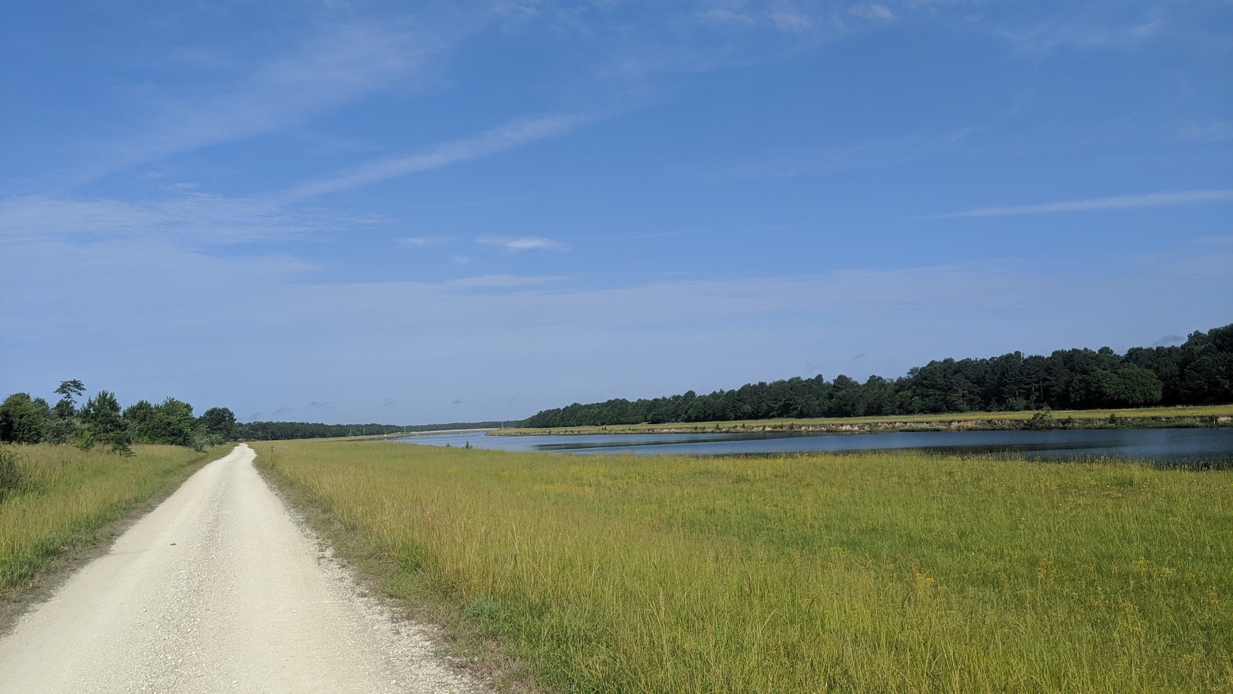 Trail along canal