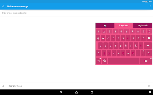 Xperia™ Tastatur Screenshot