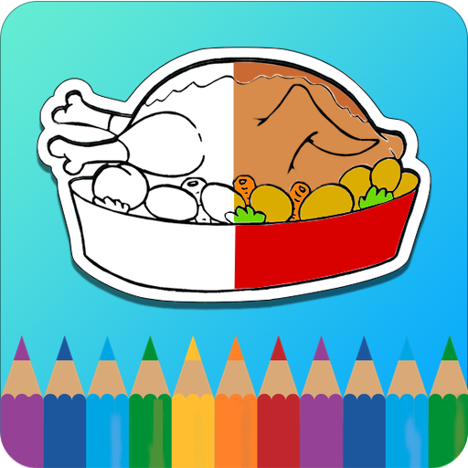 Coloring Book : Food 教育 App LOGO-APP開箱王