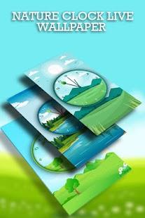 Nature Clock Live Wallpaper - náhled