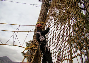 Photo: 15ft High rope Course - Net Climb