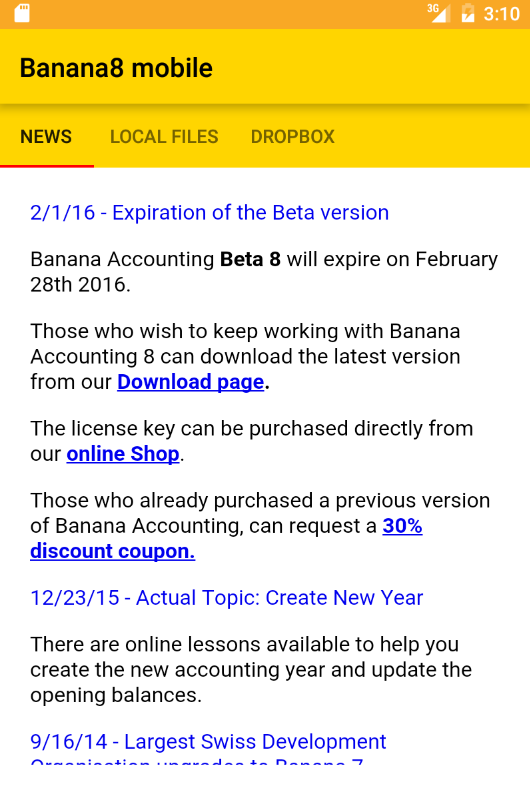 Banana Accounting Mobile- screenshot