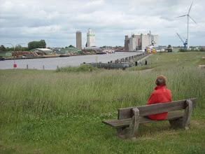Photo: Blick auf den Husumer Außenhafen