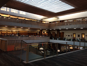 Photo: Charles E. Odegaard Undergraduate Library Kirk, Wallace, McKinley, and Associates 1972  Renovation Miller Hull 2013