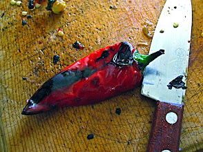 Photo: charcoal-grilled fresno pepper