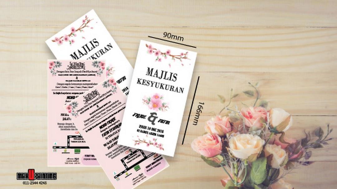 Kad Kahwin Percetakan Kota Bharu Print Shop In Kota Bharu