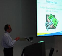 Photo: Broward Score's Michael Bush leading the Franchising Workshop at Rep. Debbie Wasserman Schultz's Annual Small Business Workshop