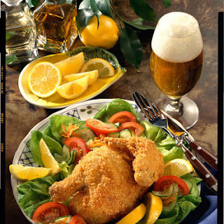 Fried Chicken with Simple Salad