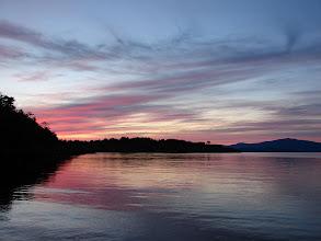 Photo: Sunset from Ballenas Island.