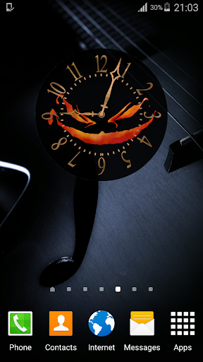 Halloween Wallpaper Clock