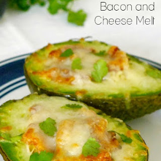 Low Carb Avocado, Bacon and Cheese Melt.