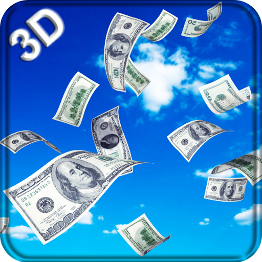 Falling Dollars 3D Icon