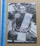 รูปถ่ายพิมพ์กระดาษขนาดบูชาย้อนยุค หลวงพ่อกวย  วัดโฆสิตาราม  จ.ชัยนาท ปี2561