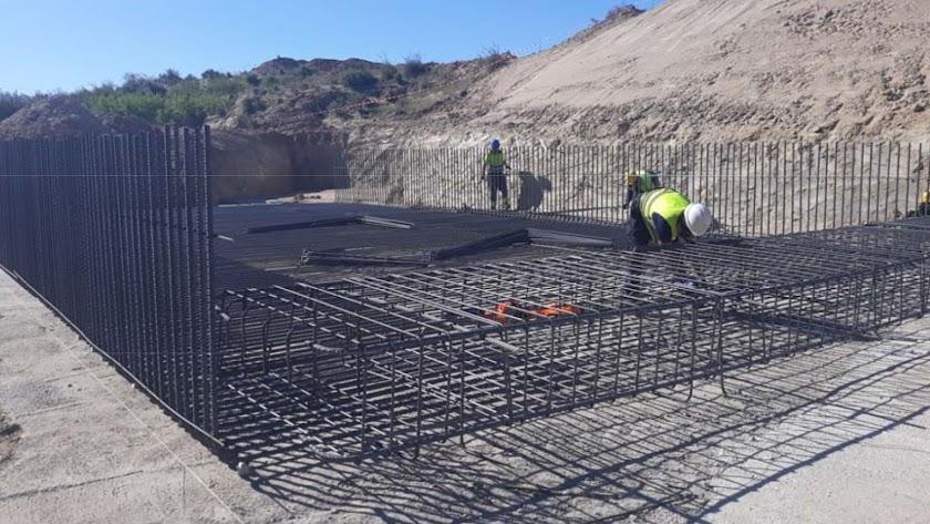 Trabajos que estaban en marcha del AVE en Almería