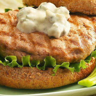 Buffalo-Blue Cheese Grilled Chicken Burgers.