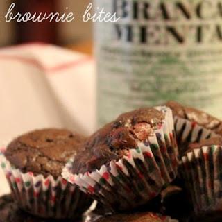 Dark Chocolate Mint Brownie Bites