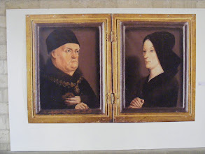 Photo: Here in the living quarters of his favorite residence are these portraits of Good King Rene (Rene d'Anjou, 1409-1480) and his wife Jeanne de Laval. Per his popular name, he was considered a just and generous ruler, as well as a writer and patron of the arts.