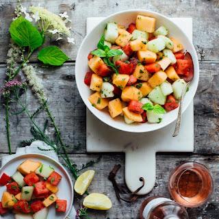 Melon Mint Salad.