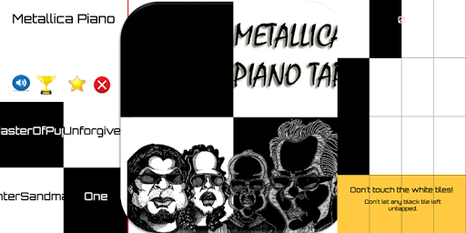 Metallica Piano Tiles