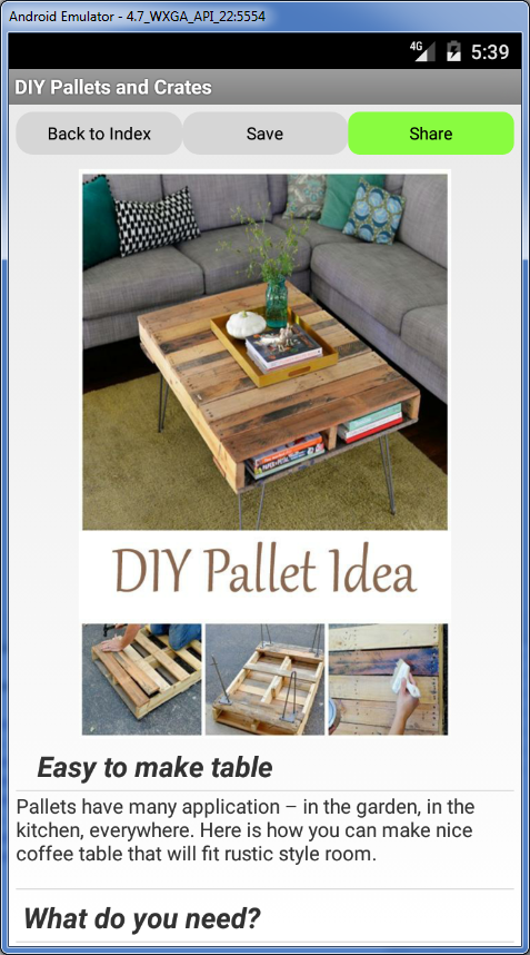 DIY Pallets and crates Android Apps on Google Play
