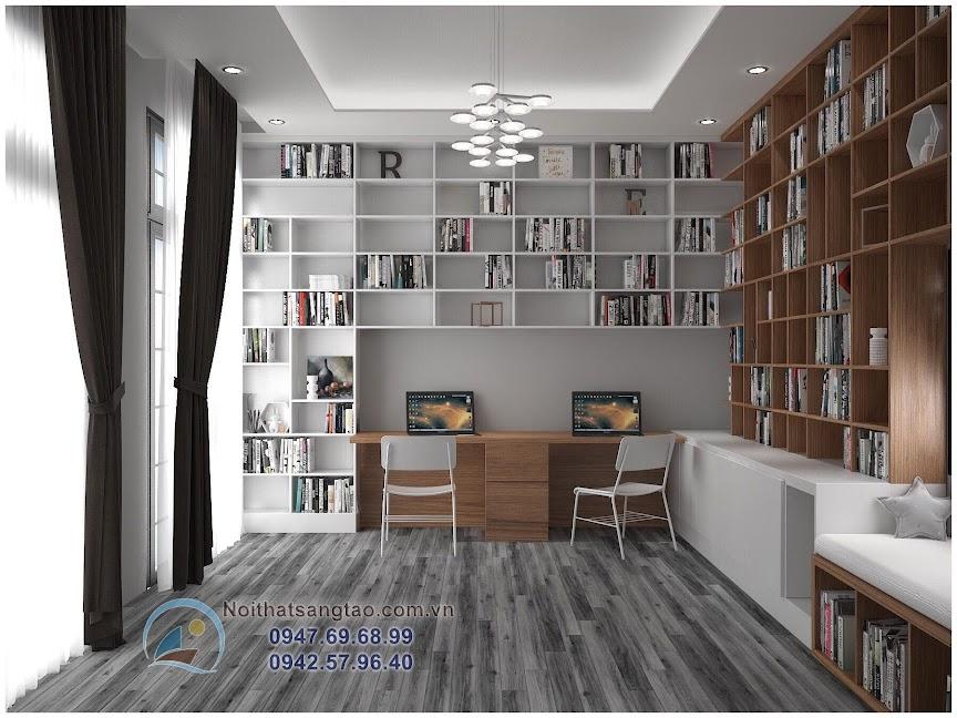 phòng đọc sách nhỏ đẹp