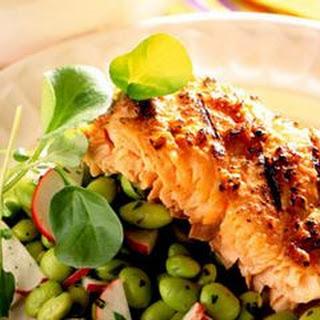 Miso-Glazed Salmon with Edamame Salad