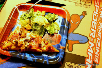 Photo: Our meal was the marketplace pizza and a side salad...yum!