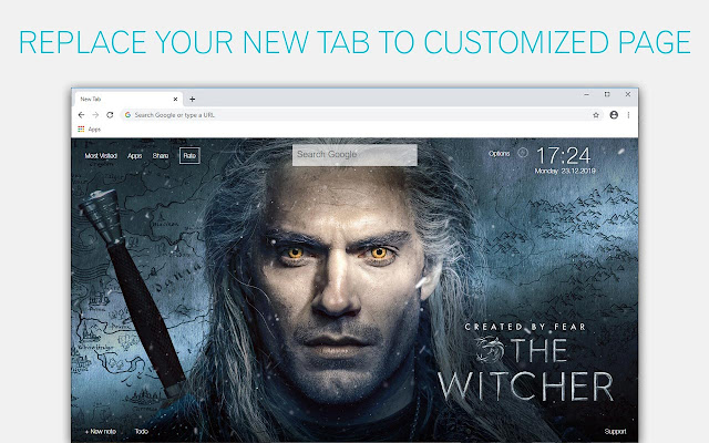 The Witcher Wallpaper New Tab - freeaddon.com