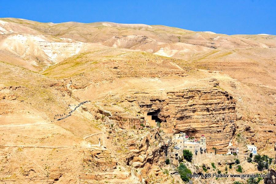 Монастырь св. Георгия Хозевита. Вади Кельт. Экскурсия в Израиле.