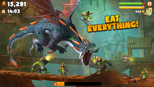 Hungry Dragon MOD APK 2.8 (MEGA HACK + Unlimited Coins) 3