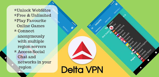 VPN Free – Delta VPN | Secure & Fast VPN v1.44 [Pro] [Latest]