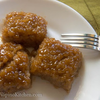 Filipino Rice Cake With Coconut Syrup (Biko With Latik)