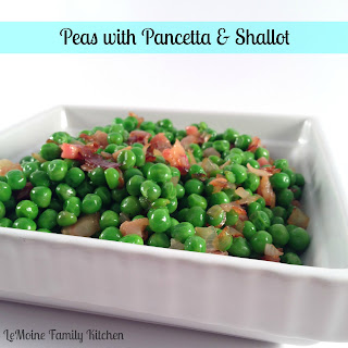 Peas with Pancetta & Shallot