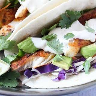 Spicy Fish Tacos.