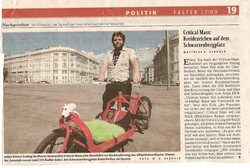 Photo: Peter Pilsl, Criticalmass, Falter 17/09