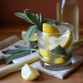 Lemongrass Sage Vodka Fizz.