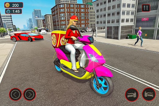 Moto Bike Pizza Delivery u2013 Girl Food Game Apk 1