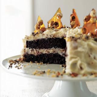 Hazelnut Crunch Cake with Mascarpone and Chocolate.