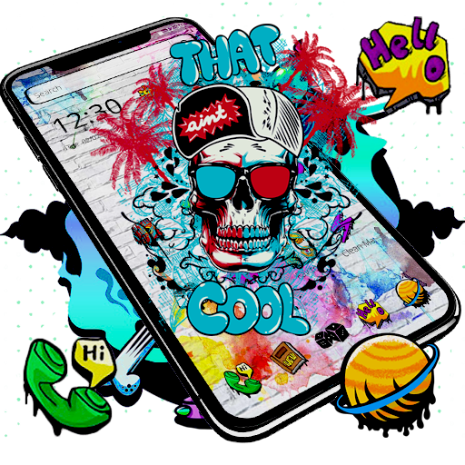 Cool Skull Graffiti Theme