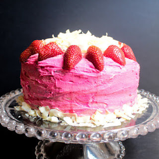 Midnight Chocolate Cake with Pink Vanilla Buttercream Icing