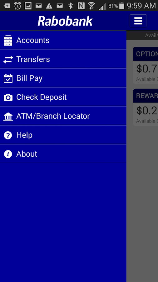 Rabobank Mobile Banking- screenshot