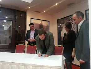 Photo: Launching event, 20 Apr 2013 Signature of the Memorandum of Understanding