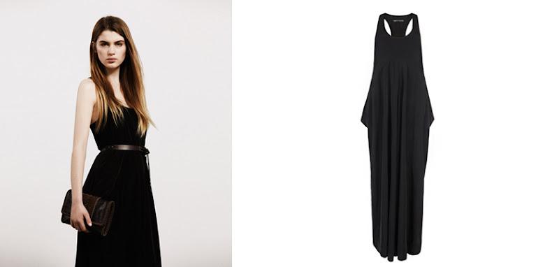 Photo: Para Maxi Dress>>  UK>http://bit.ly/LdqQfg US>http://bit.ly/Mr5896  Flattering voluminous black maxi dress made from a technical woven fabric. The Para maxi dress features a racer back, flattering side drapes and deep pockets.
