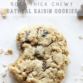 Soft & Chewy Oatmeal Raisin Cookie
